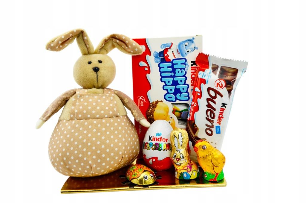 Zestaw Wielkanoc Kinder Zając Pluszowy Jajko Hippo