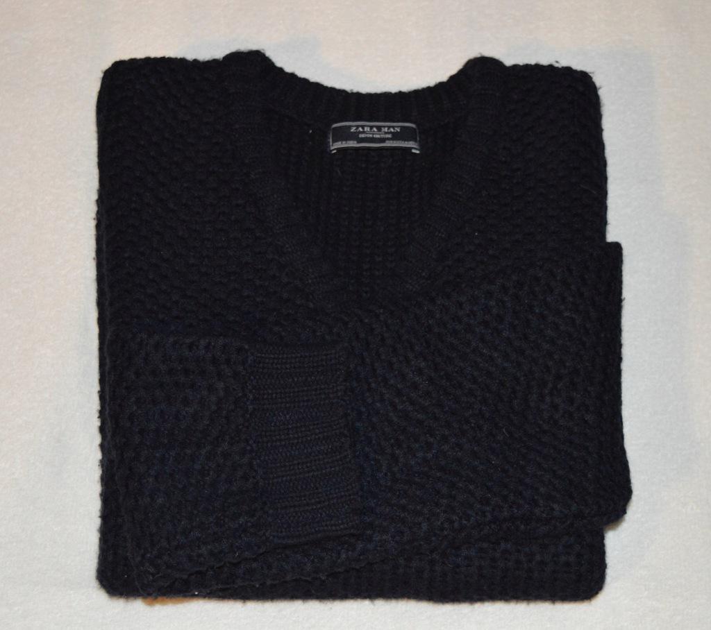 ZARA granatowy sweter M