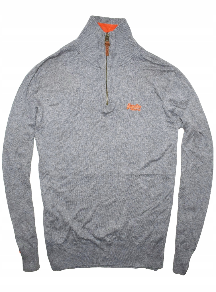 Superdry M/L sweter half zip ciekawy wzór