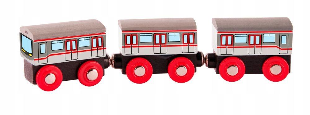 Pociąg osobowy Kolejka drewniana Metro Woody 24cm