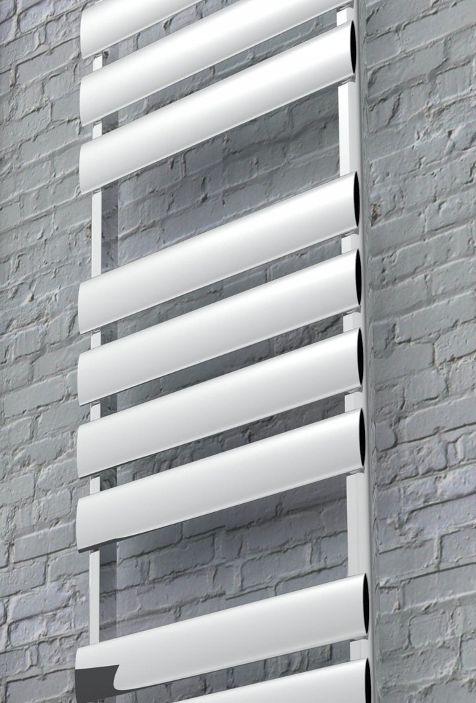 RIDEA Modena Grzejnik Łazienkowy ALU 780x500 biały