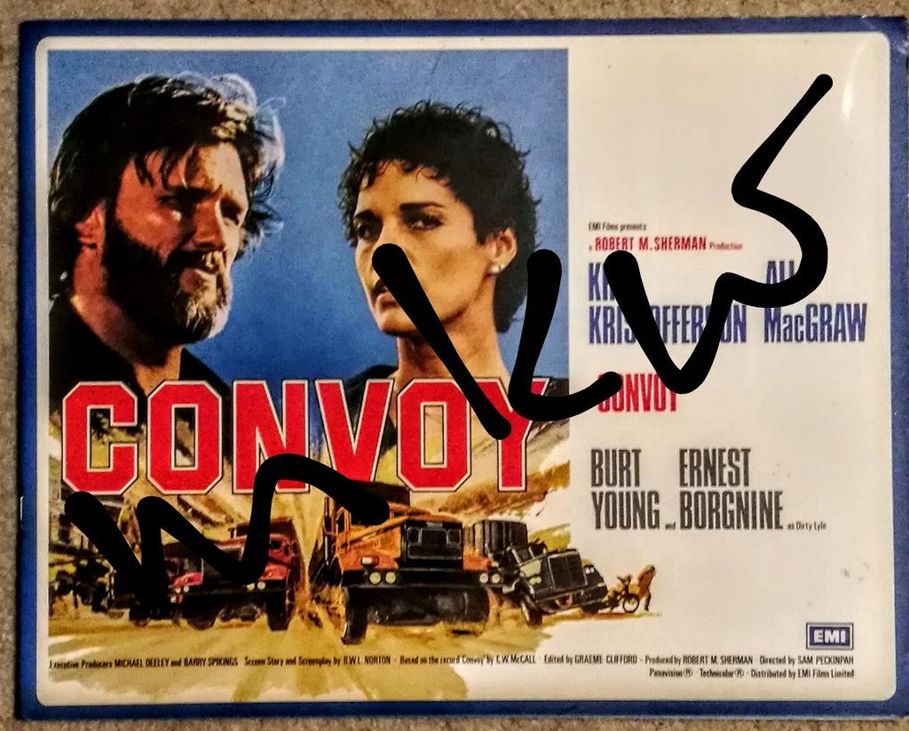 USA Film CONVOY/KONWÓJ Folder Reklamowy Duży