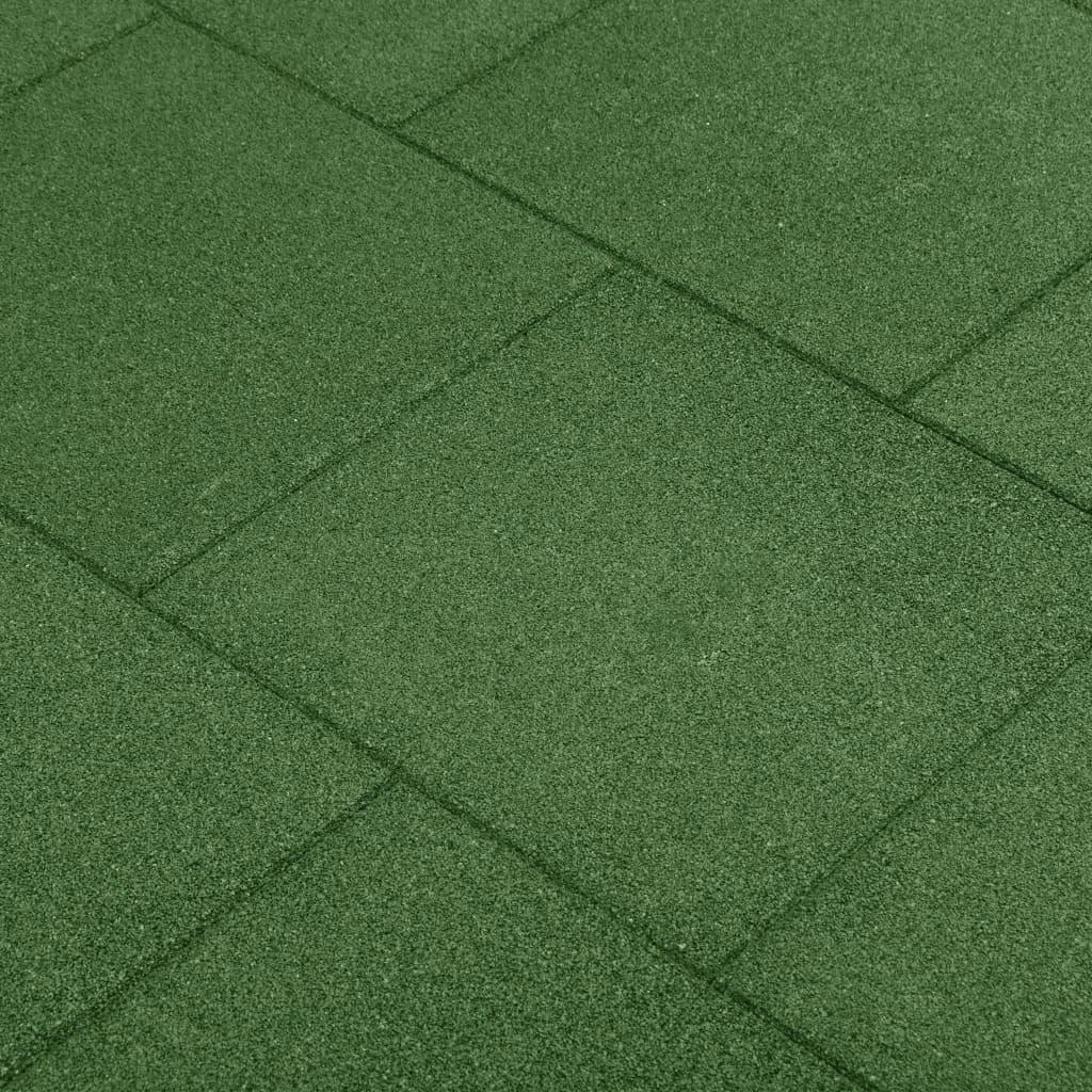 Gumowe płyty, 6 szt., 50 x 50 x 3 cm, zielone