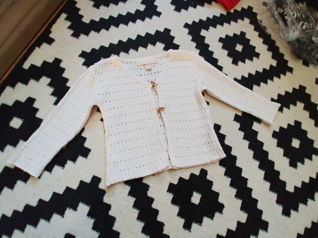 ORCHESTRA beżowy sweterek 104m bdb