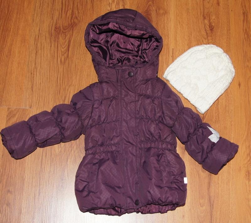 Kurtka jesienna zimowa 74-80-86 + czapka gratis