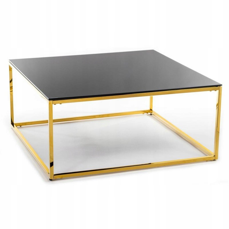 Stolik kawowy Rekta Gold Black 100 cm