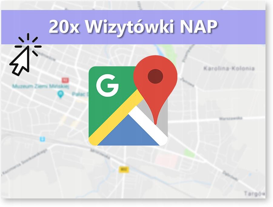 Wizytówki NAP x20 pozycjonowanie lokalne SEO local