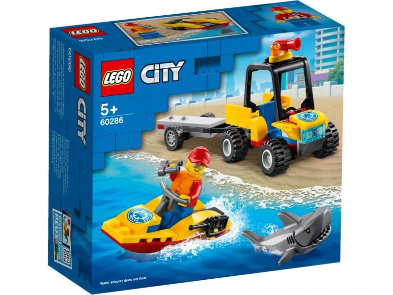 LEGO Klocki City 60286 Plażowy quad ratunkowy