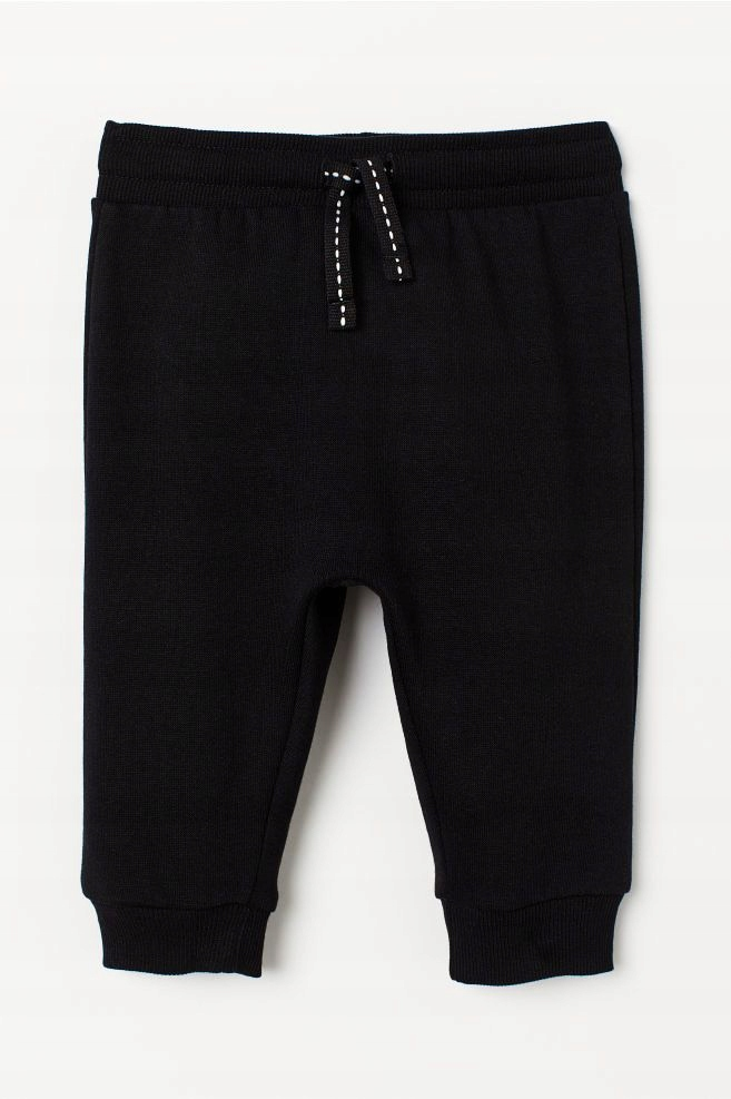 NOWE H&M spodnie dresowe czarne 98