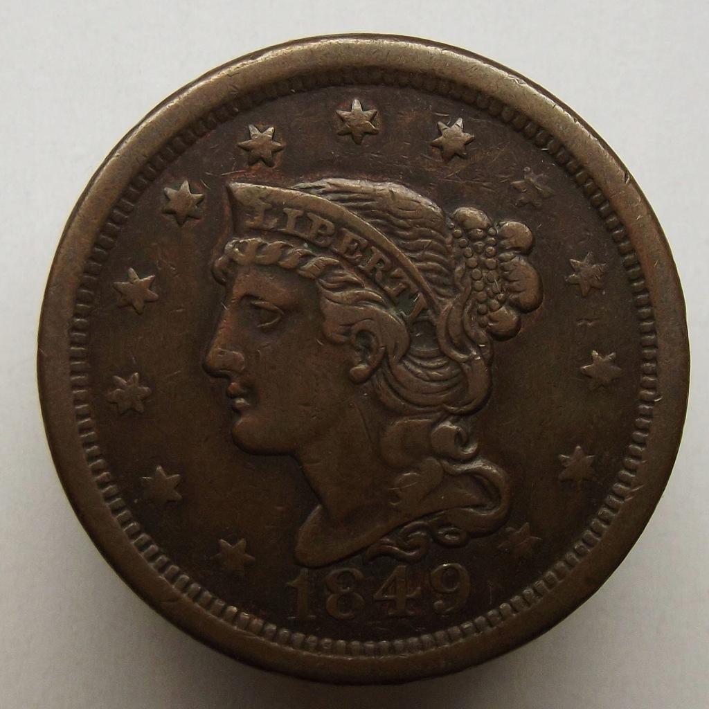 1849 r. - 1 cent