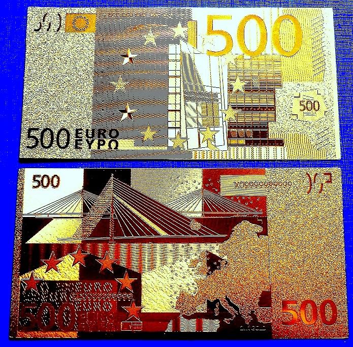 500 EURO W CZYSTYM ZŁOCIE 24 KARAT! -SUPER PIĘKNY!