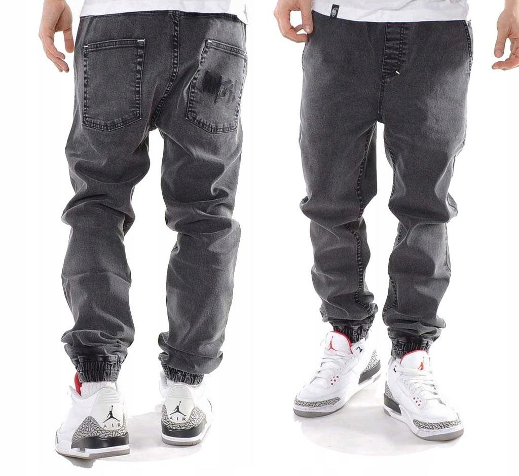 Spodnie 34 Mass Dnm Signature Jogger szare joggery