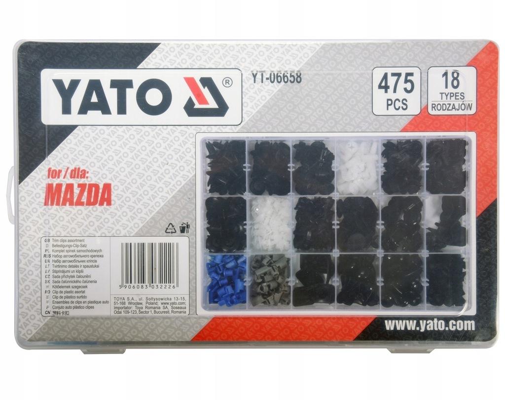 Spinki samochodowe MAZDA 475 szt YATO YT-06658