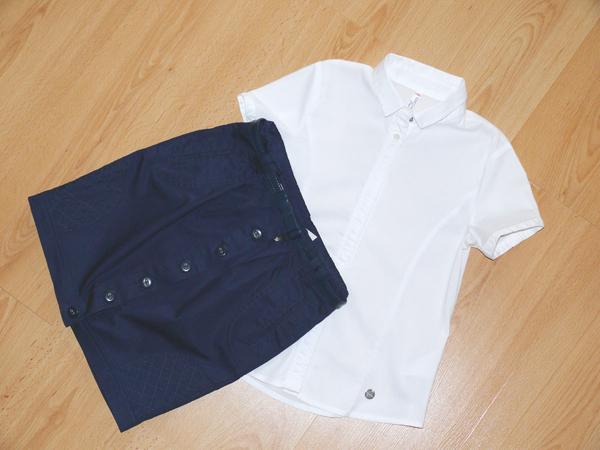 coccodrillo zestaw galowy spodnica bluzka 134
