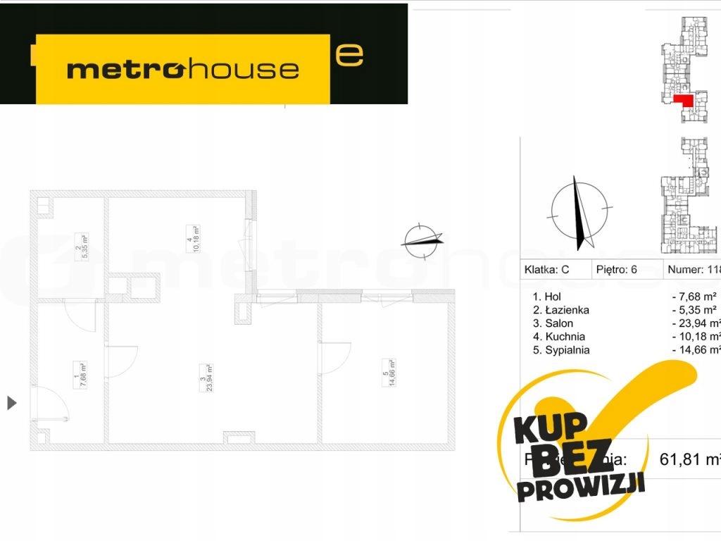 Mieszkanie, Piastów, Pruszkowski (pow.), 62 m²