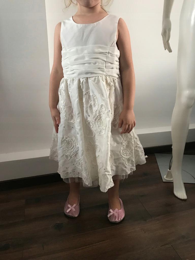 sukienka wesele urodziny 122 C&A ecru