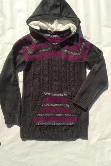 Sweter tunika Yd, grafit ,kieszenie BDB r.152