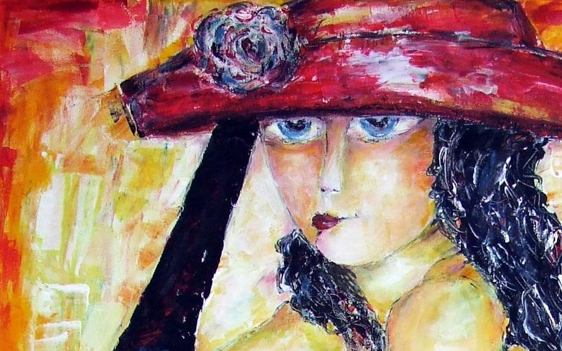 Aniołek Marzycielka - OLEJ - Malarstwo