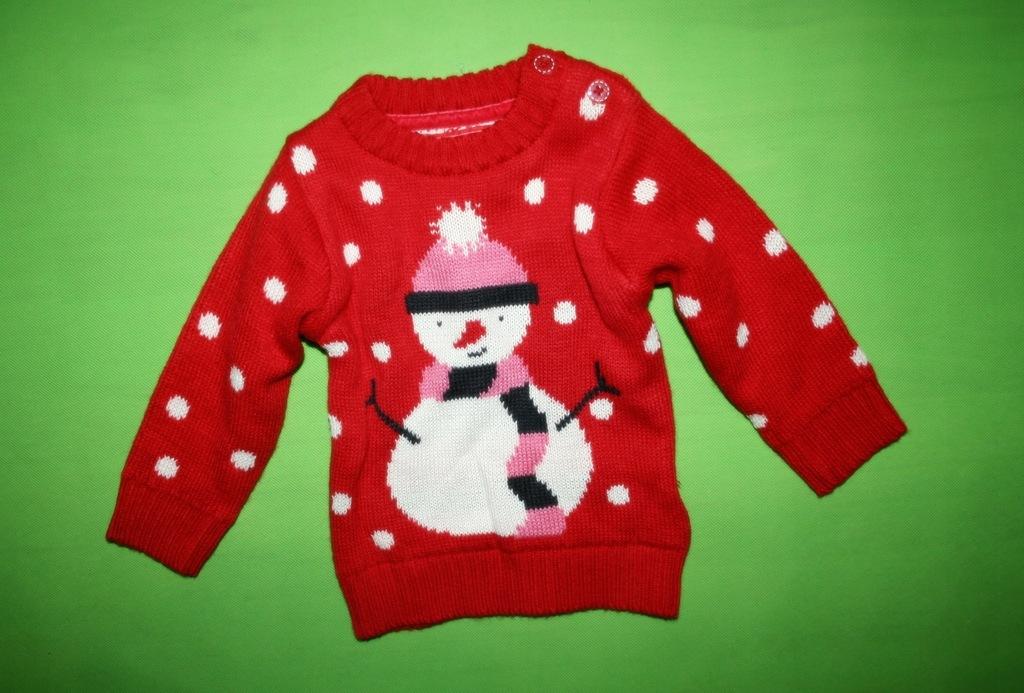 EARLY DAYS świąteczny sweterek BAŁWANEK 56-62 NOWY