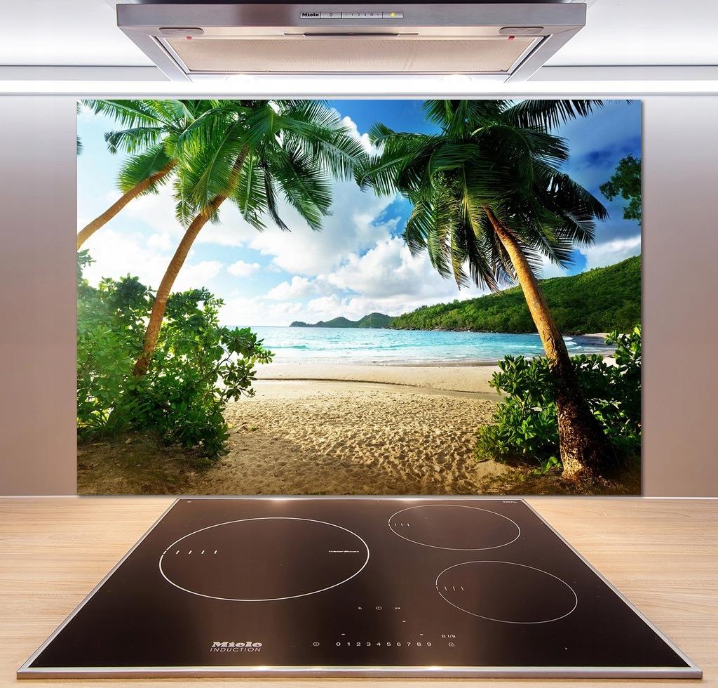 Panel do kuchni Palmy na plaży 100x70 cm + KLEJ