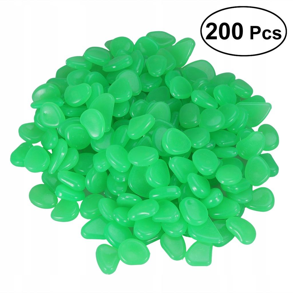 200pcs Luminous Cobblestones Pebbles Stones Glow i