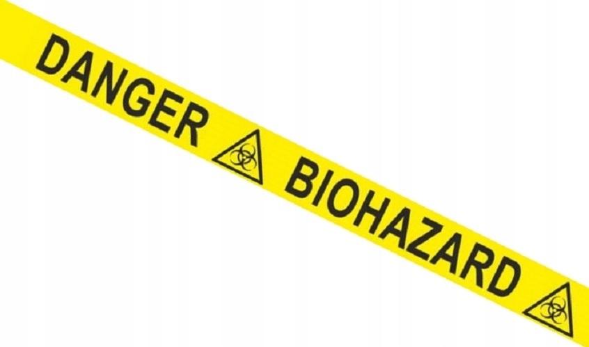 Taśma ostrzegawcza BHP NIEBEZPIECZEŃSTWO DANGER