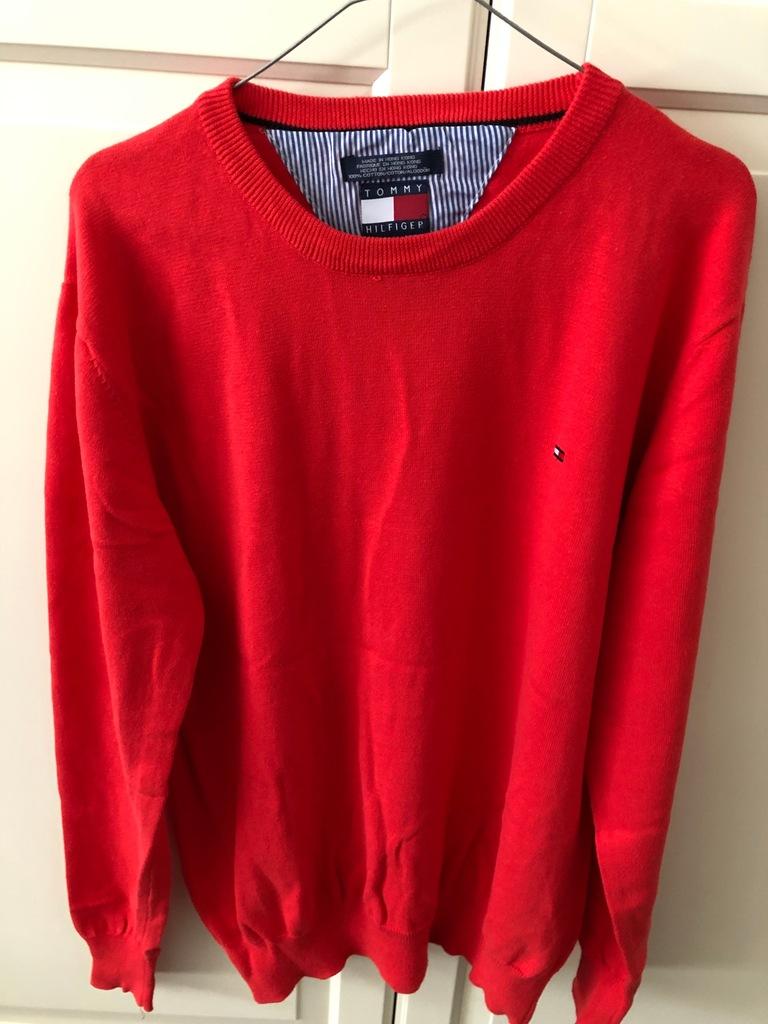 sweter Tommy hilfiger czerwony