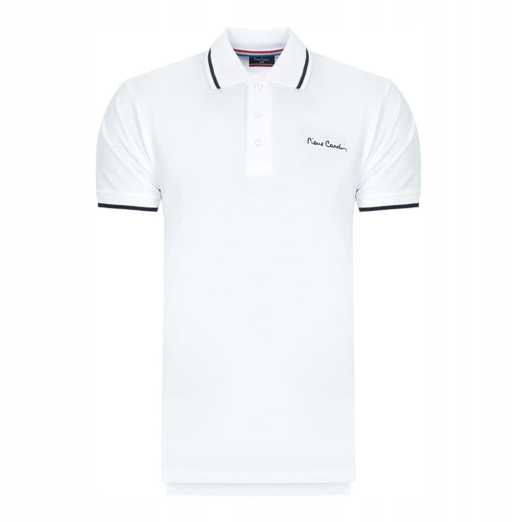 Pierre Cardin Polo T-shirt Męski Koszulka Biała S