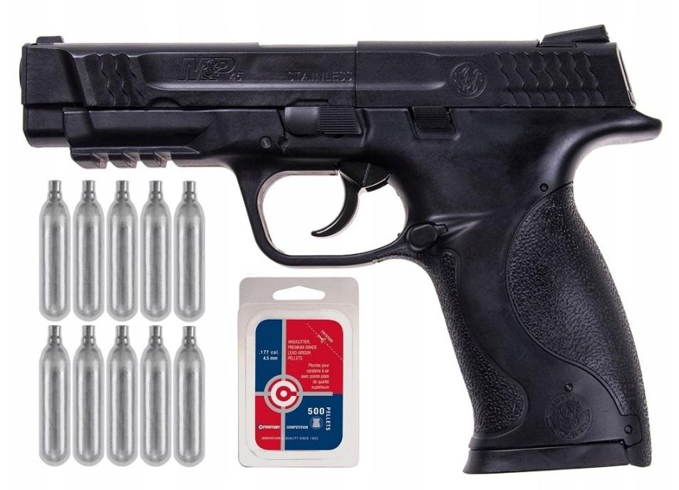 Wiatrówka Smith&Wesson M&P 45 ZESTAW ŚRUT