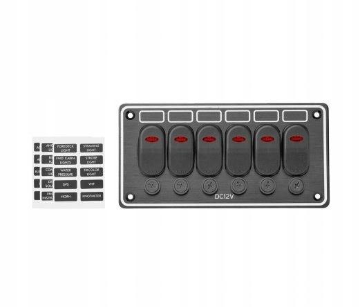 Panel sterowania przełączniki LED IP65 12V do łodz