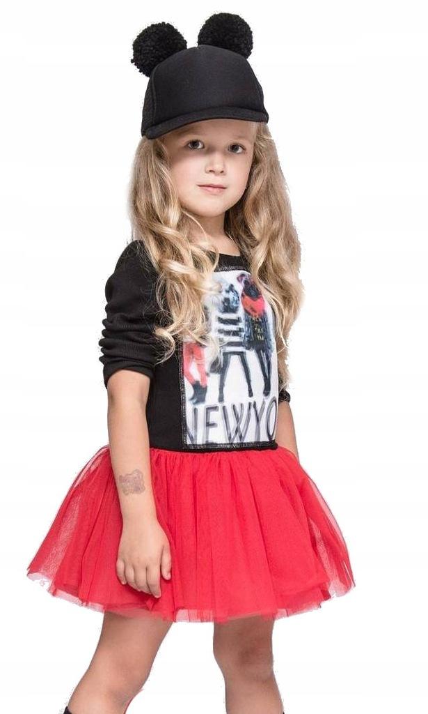 Sukienka , tunika dziewczęca tiul MałaMi 146-152