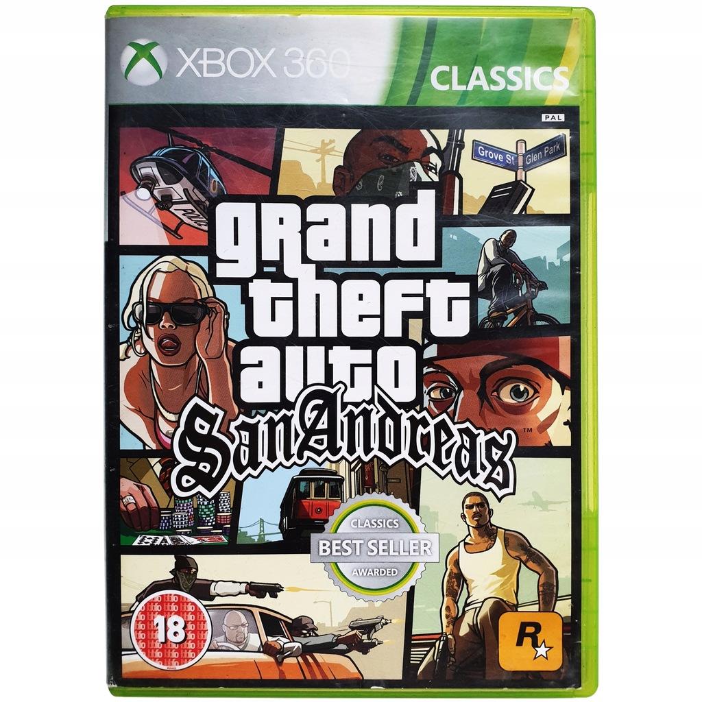Grand Theft Auto San Andreas Xbox 360 Gta Od Ahs 8691320861 Oficjalne Archiwum Allegro