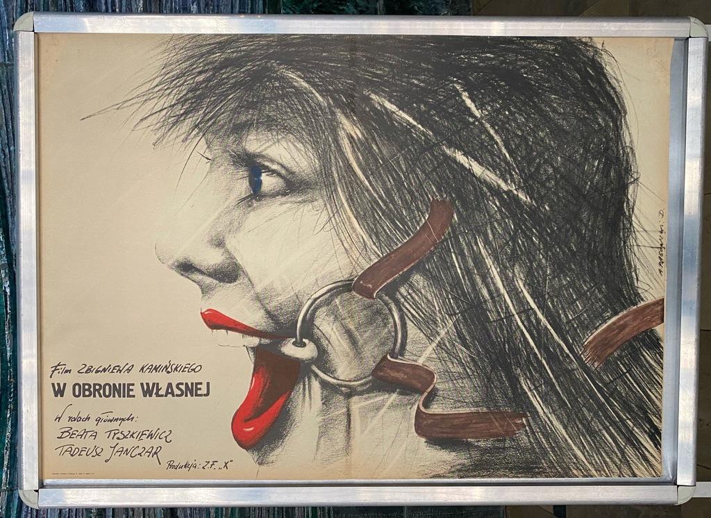"""Plakat filmowy """"W obronie własnej"""""""