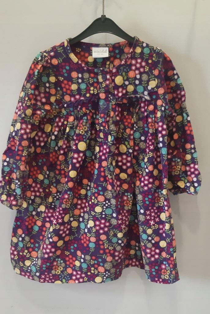 Miniclub kolorowa sukienka tunika 80-86