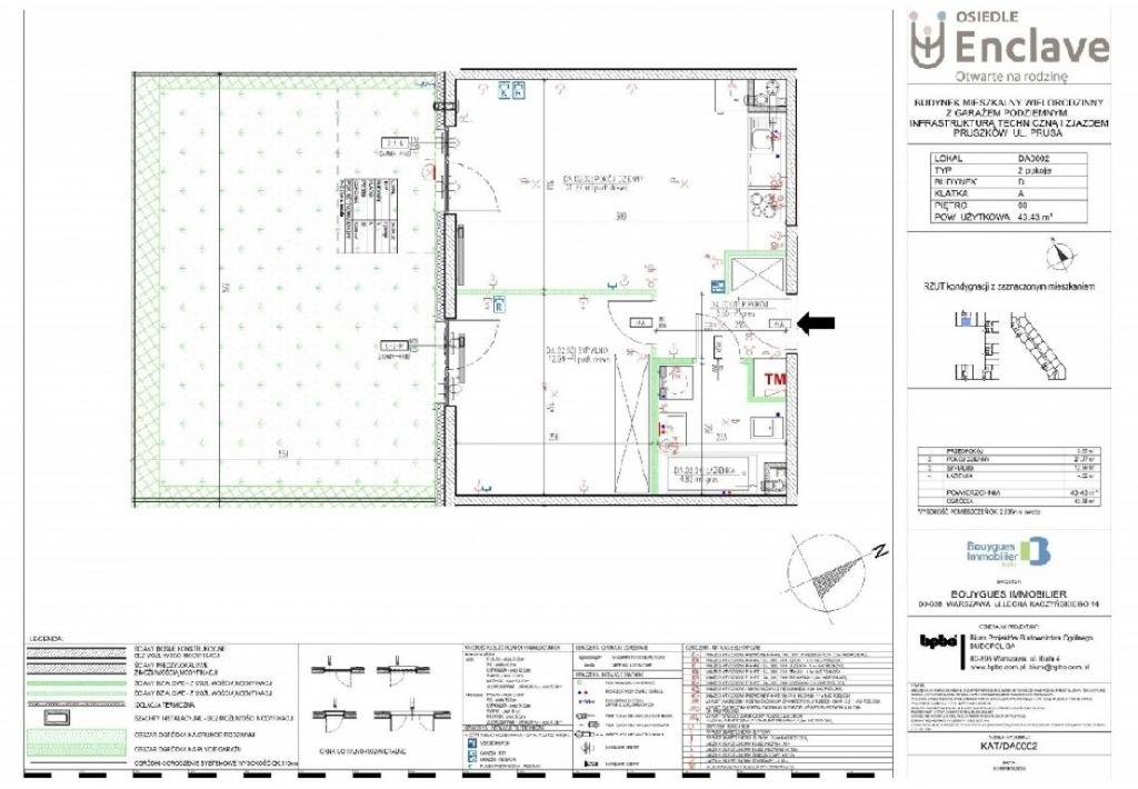 Mieszkanie Pruszków, pruszkowski, 43,00 m²