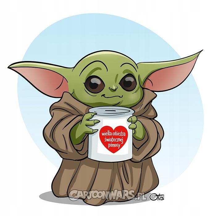 Rysunek Baby Yoda WOŚP