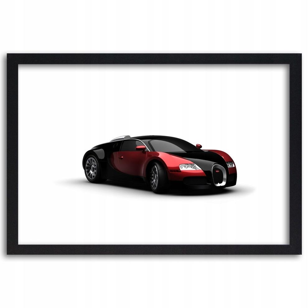 Plakat w ramie 120x80 Czerwone Bugatti Veyron