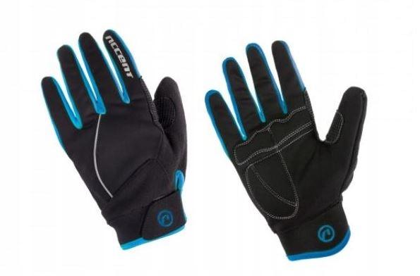 Rękawiczki zimowe Accent Snowflake czar-nieb M