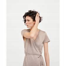 sukienka Zara cielista