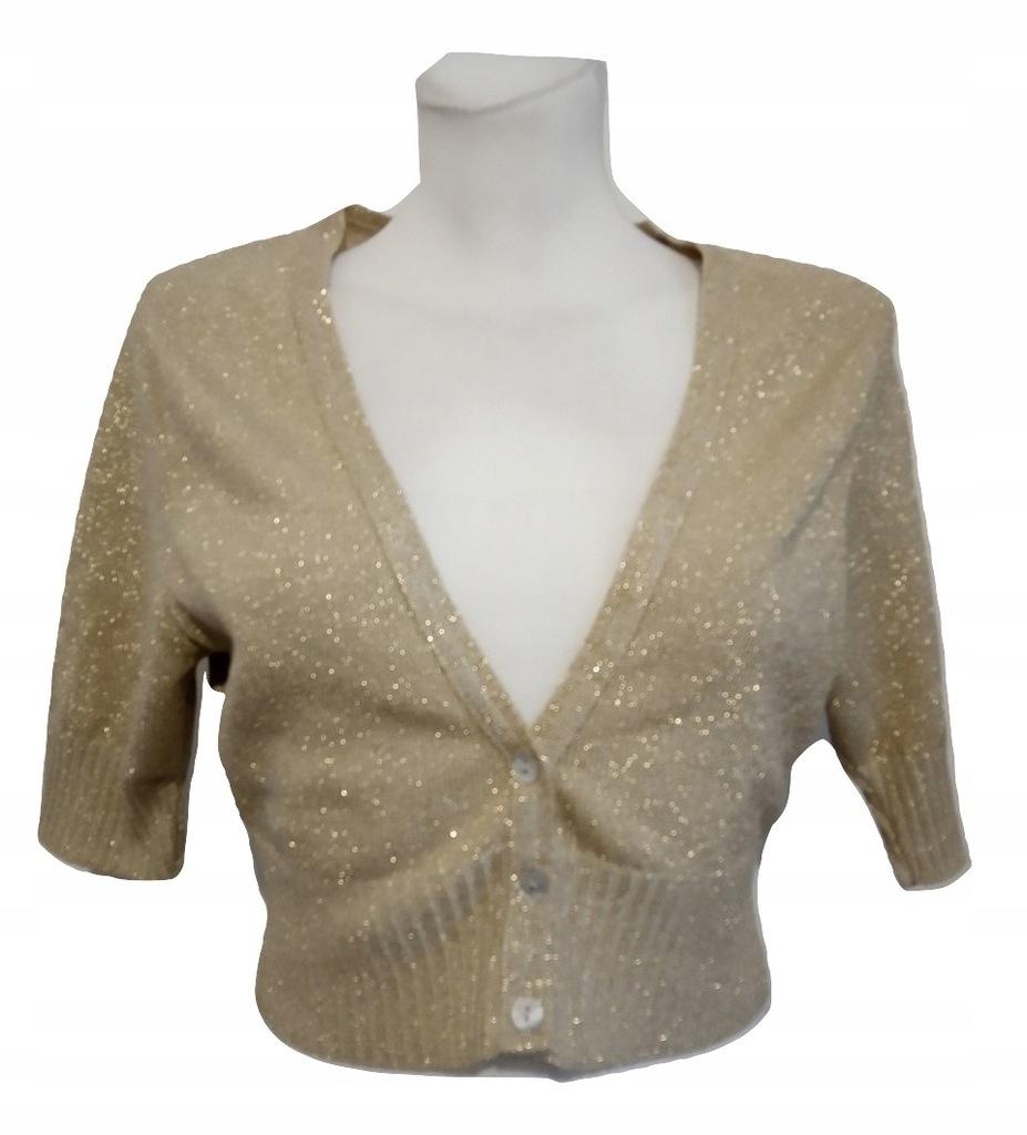 New Look złoty sweterek bolerko 44 xxl