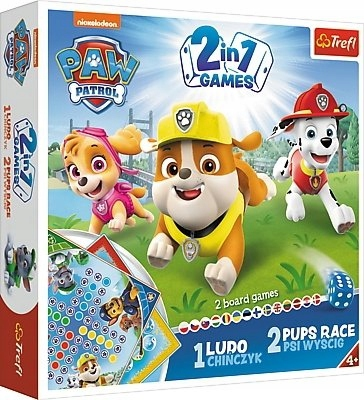 Gra 2w1 Chińczyk/Wyścig Psi Patrol TREFL