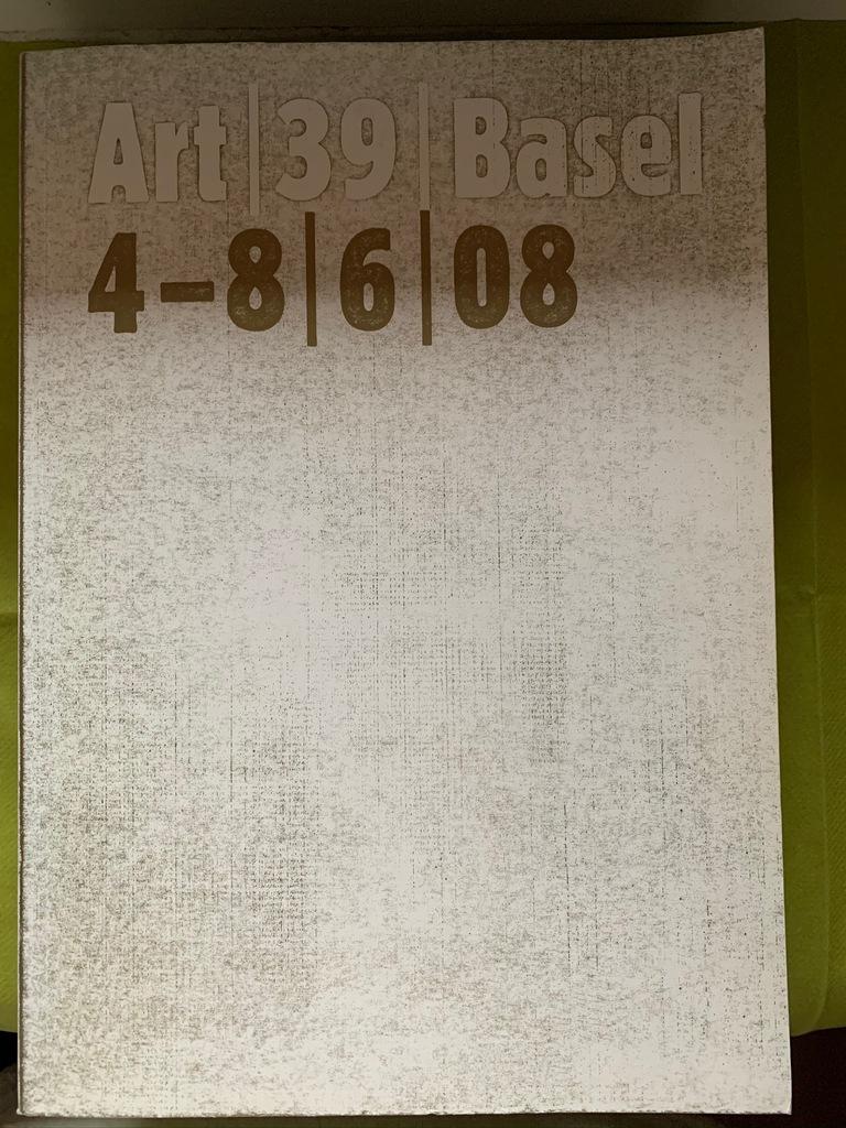 Art Basel 2008 katalog artbook unikat