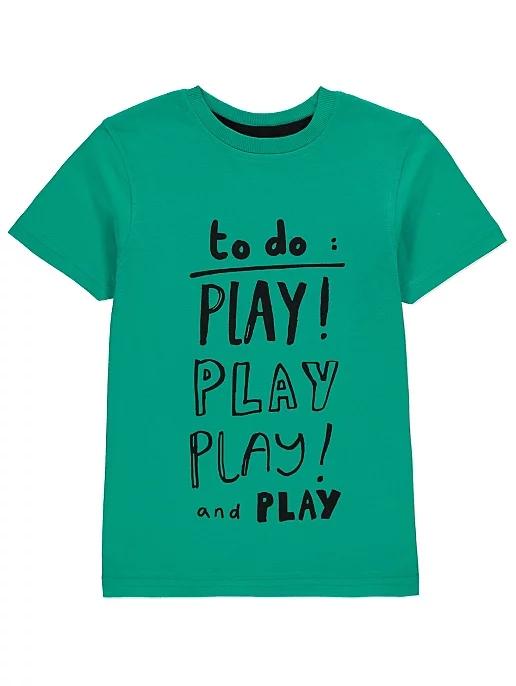 GEORGE bluzka T-SHIRT play play play 86-92/18-24