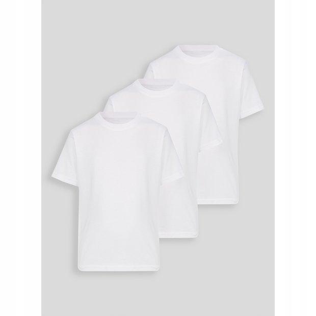 TU - biały T-shirt krótki rękaw 3szt.-r.6lat/116cm