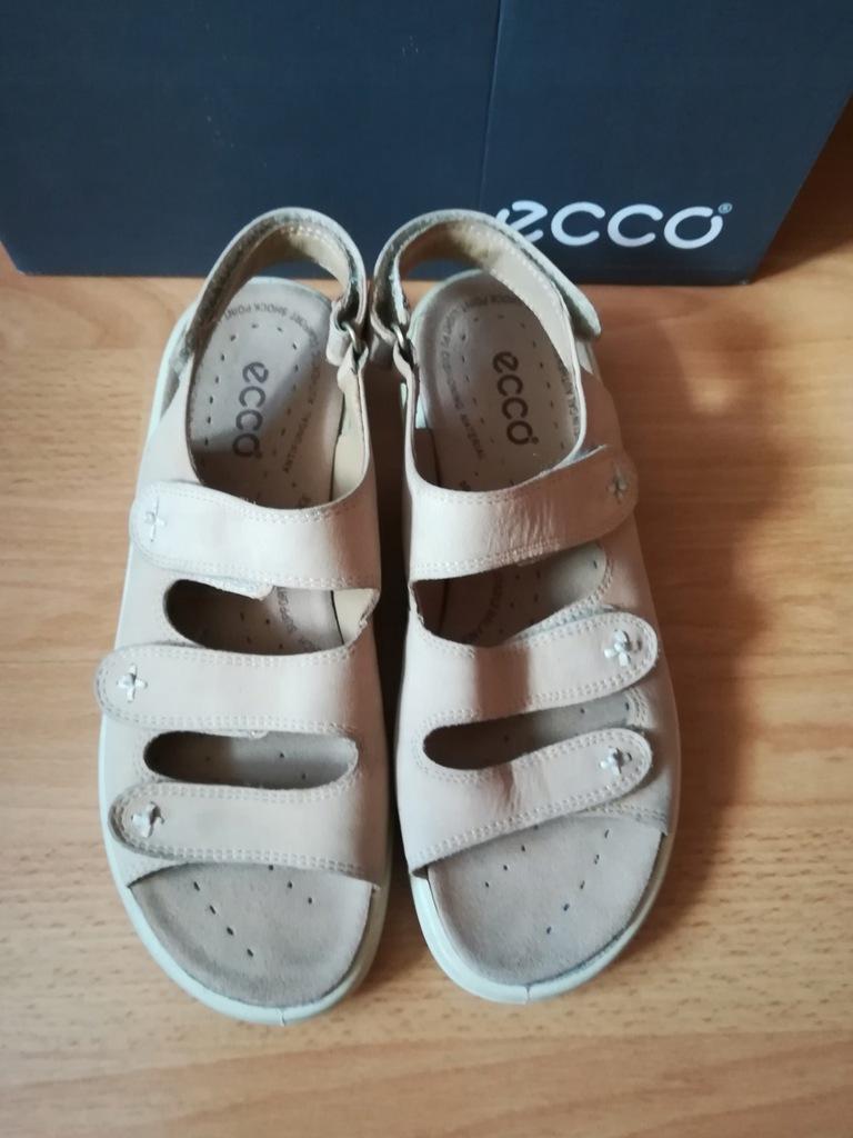 Ecco 39 buty sandały skóra 25,5cm