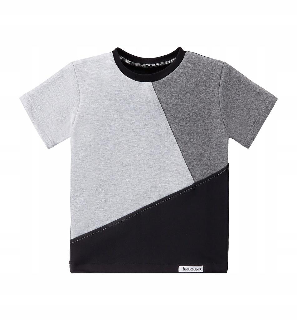 TuSzyte | Bawełniana koszulka szara PL R.104