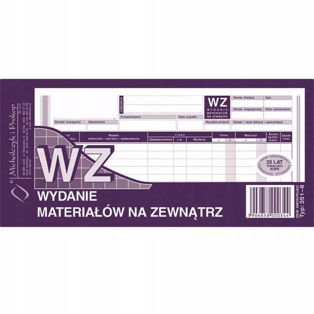 Druk WZ 1/3 A4 wielokopia MiP