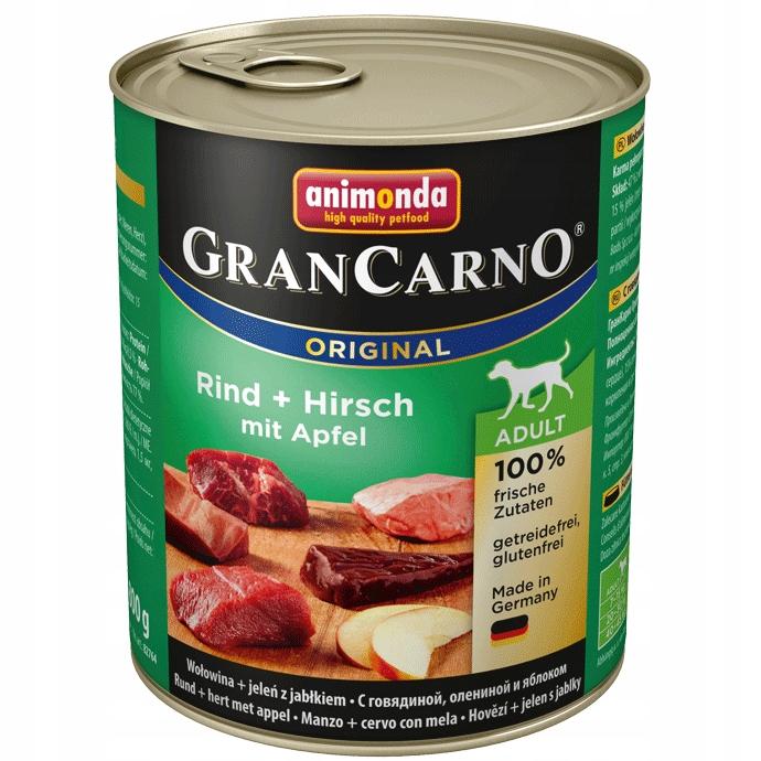 ANIMONDA GRAN CARNO pies - puszka 800 g JELEŃ