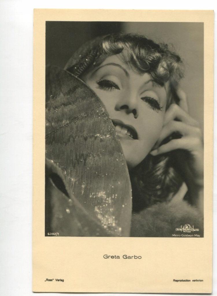 Greta Garbo Kino Film Aktorka Foto Pocztówka 9