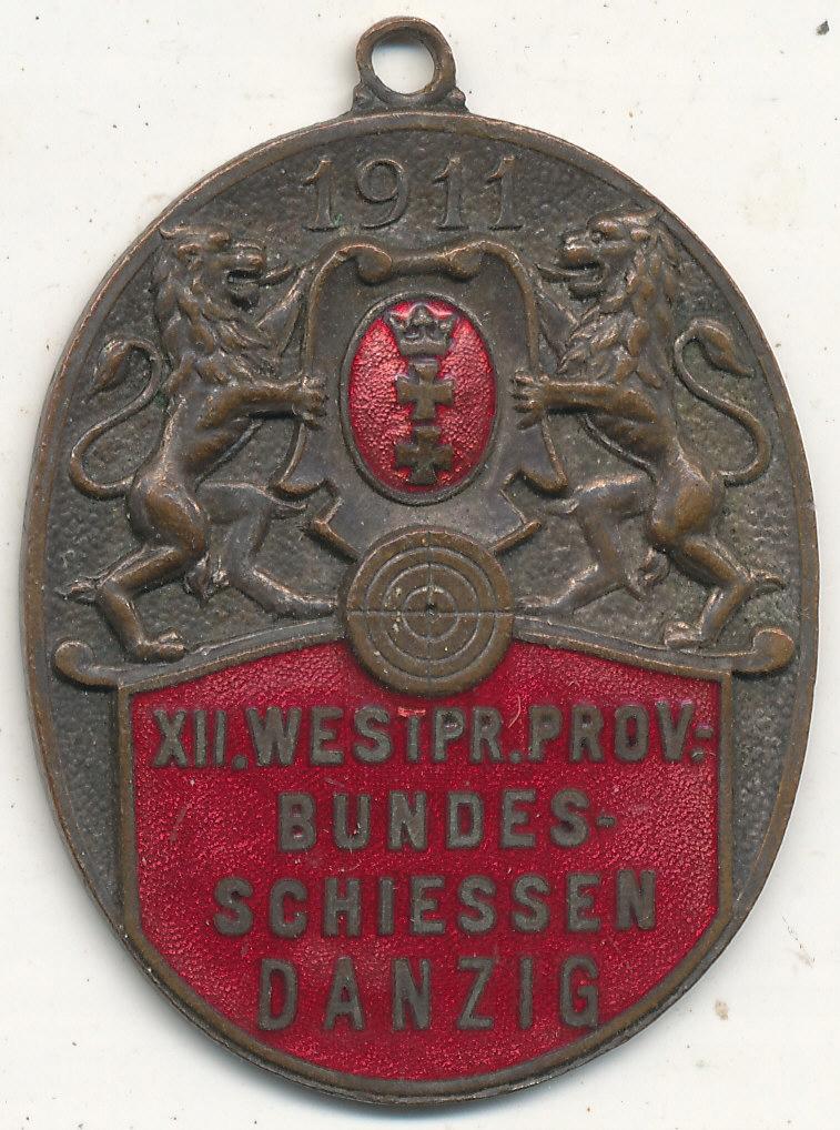 Bractwo Kurkowe Gdańsk 1911 r Herb emalia wym.41,5